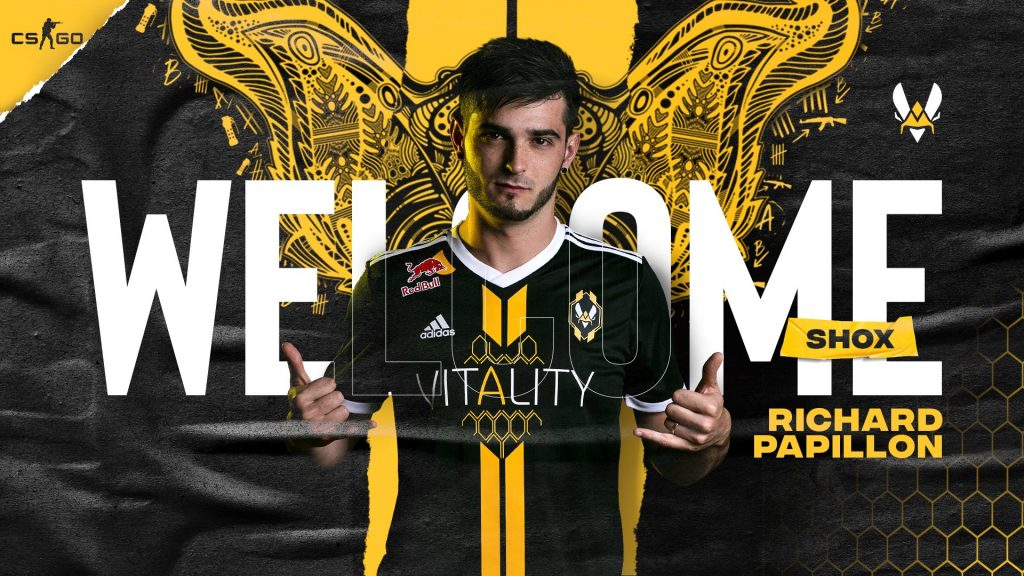 shox is headed to Team Vitality, ending the speculation about where the Frenchman would land (Photo via Team Vitality)