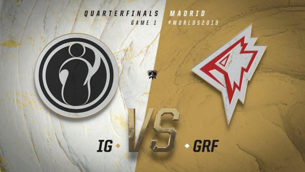 IG vs Griffin Worlds 2019