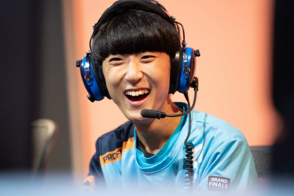 Profit was the 2018 Grand Finals MVP and a key player for the Spitfire. (Image via Robert Paul/Blizzard Entertainment)