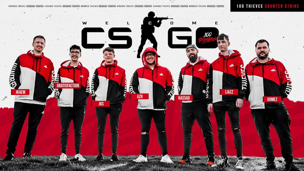 What will be the fate of 100 Thieves in their first CSGO event? (Image via 100 Thieves)