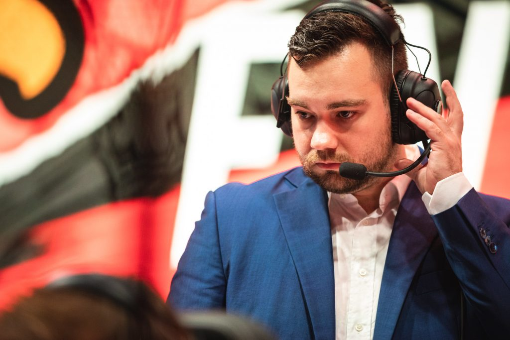 Youngbuck joined Fnatic's support staff helmed by head coach Dylan Falco in 2018 (photo via Shannon Cottrell/Riot Games)