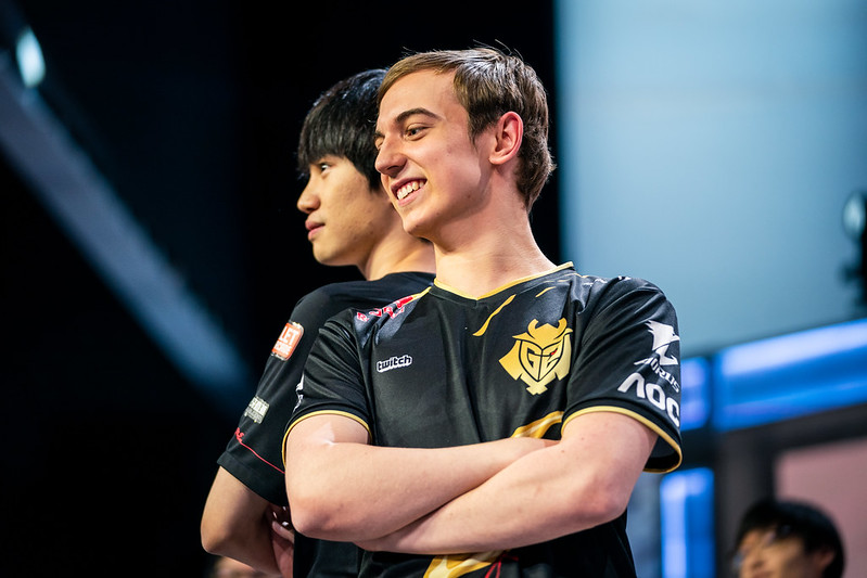 The winner of Doinb vs Caps in the mid lane could determine the Worlds 2019 Finals (Photo via Michal Konkol/Riot Games)
