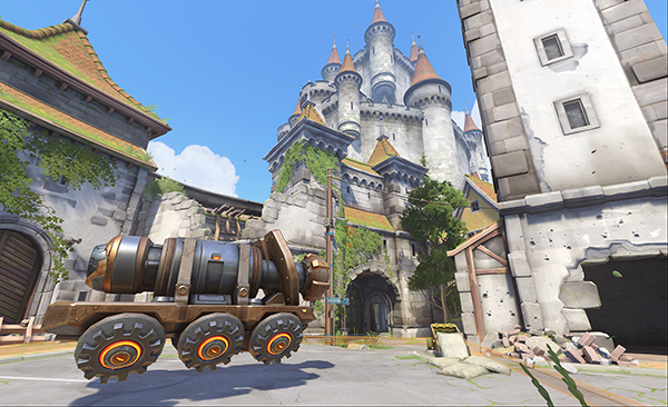A look at the payload teams must escort on Eichenwalde (Image via Blizzard Entertainment)