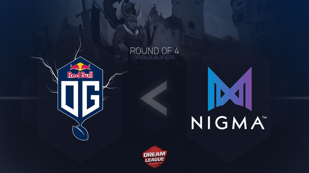 OG Seed crashed out of the DreamLeague Season 13 Europe Open Qualifiers, after hitting a brick wall in the form of Nigma. (Image via OG)