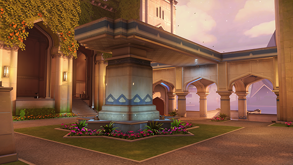 The Garden stage of the Overwatch Map Oasis (Image via Blizzard Entertainment)