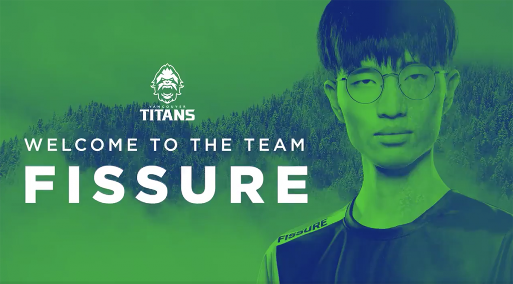 Fissure could be an inspired signing if he can keep the drama to a minimum (Image via Vancouver Titans/Twitter)