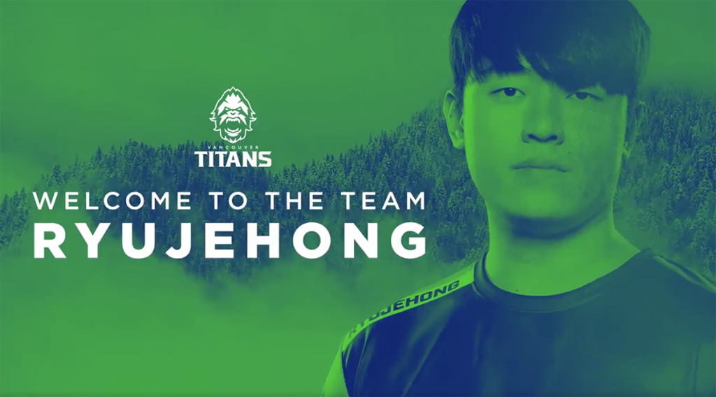 The Vancouver Titans continue their flurry of roster moves by adding legendary flex support player ryujehong (Image via Vancouver Titans)