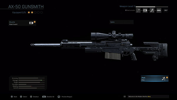 The AX-50 is easily the top sniper in our tier list (Image via IGN)
