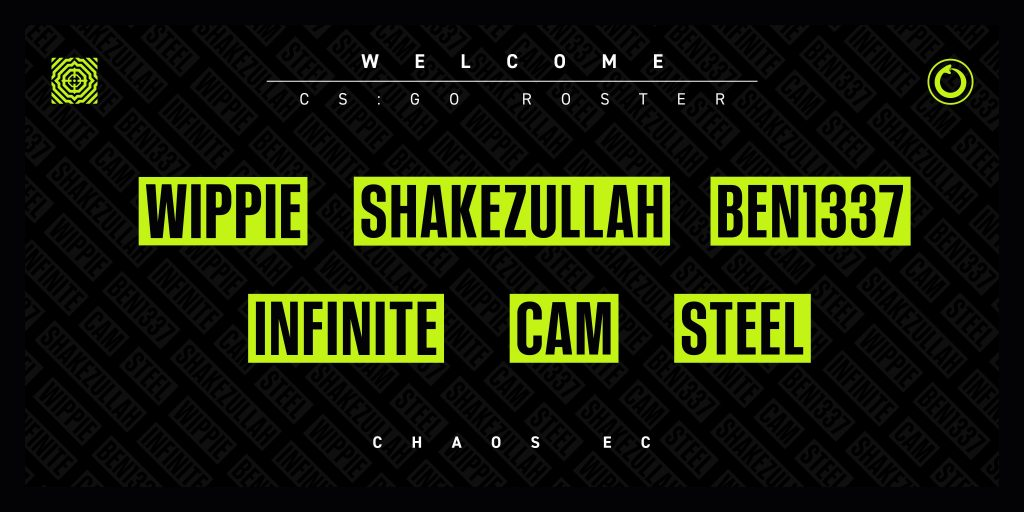 Chaos EC's new squad is made from the core of the former Team Singularity roster that was released in early October (Image via Chaos EC/Twitter)