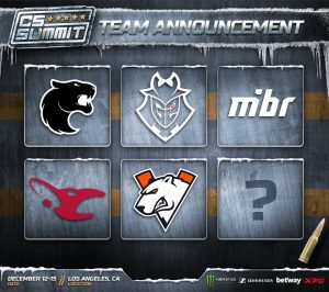 Beyond the Summit has announced five of the six teams attending CS_Summit (Image via Beyond the Summit)