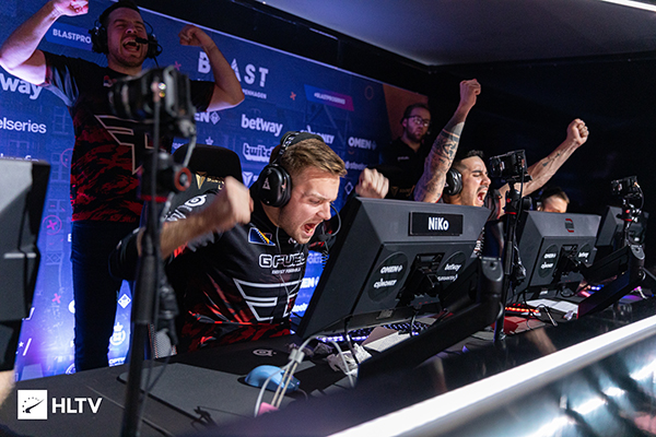 FaZe Clan is coming off a victory at BLAST Pro Series Copenhagen (Photo via HLTV)