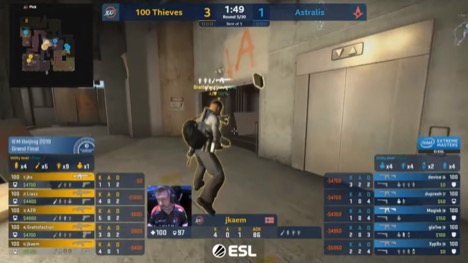A typical overlay you will see in competitive CSGO.
