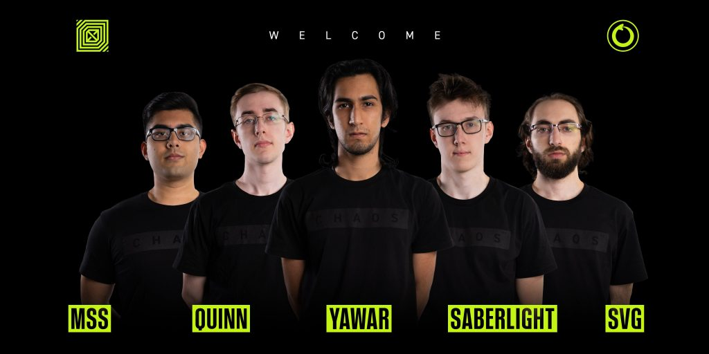 CCnC, Yawar, MSS and SVG form the new nucleus of Chaos Esports Club (Image via Chaos Esports Club/Twitter)