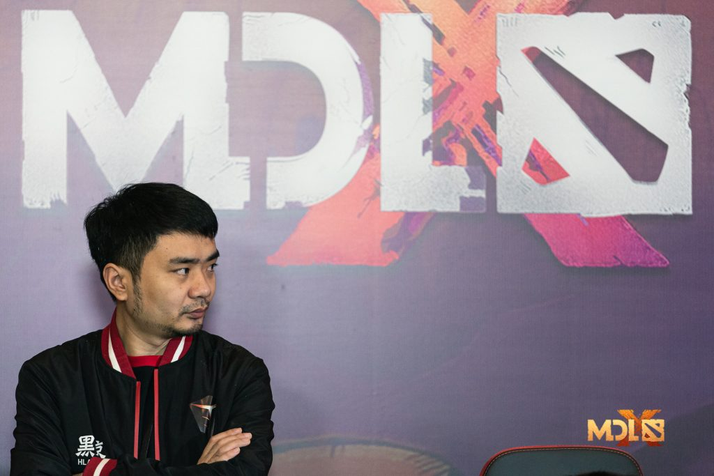 EHOME coach xiao8 (pictured) voiced his dissatisfaction with his team's performance at MDL Chengdu in a live stream last week (Photo via Mars Media)