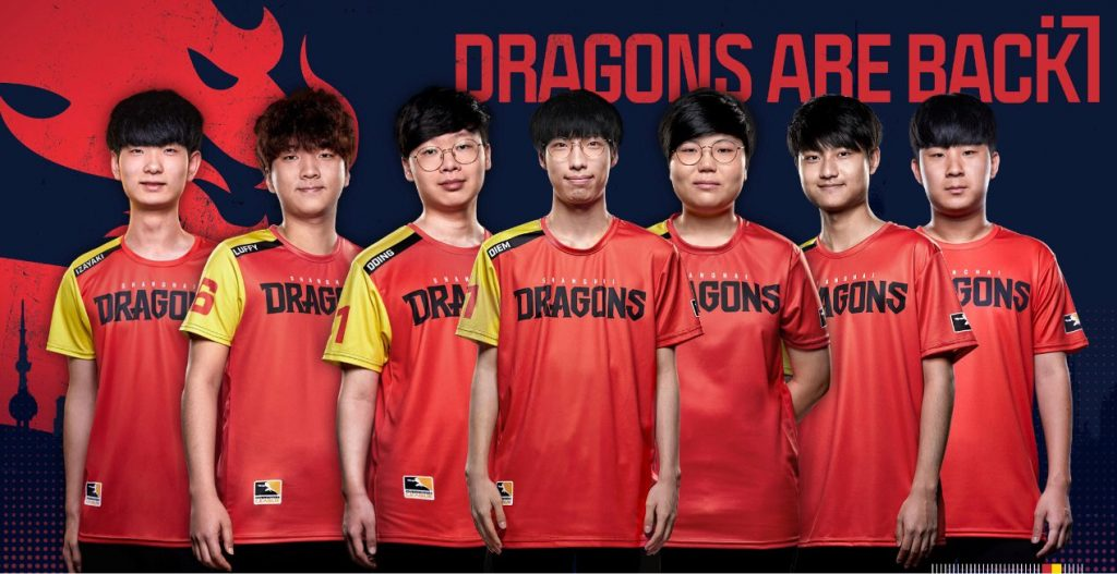 The core of the 2019 Shanghai Dragons will be returning in 2020 (Image via Shanghai Dragons/Twitter)