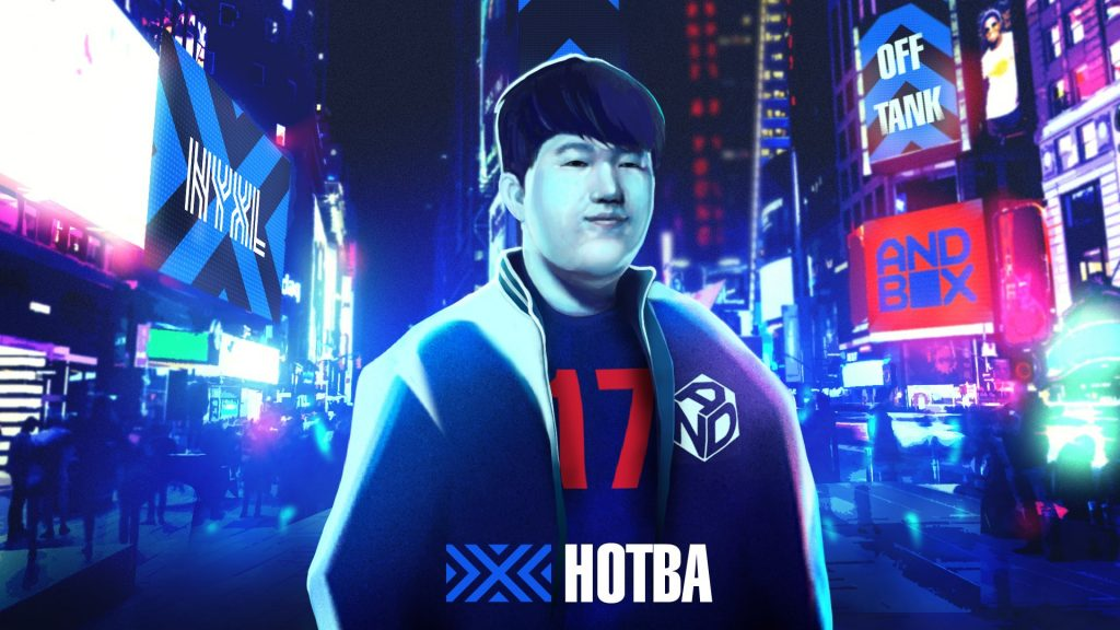 HOTBA will be the new off-tank for New York in 2020. (Image via @NYXL / Twitter)