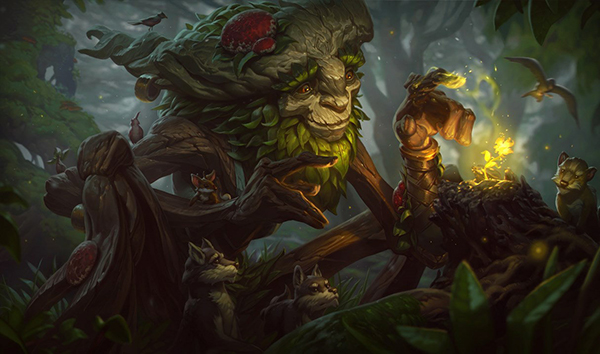 Ivern has not seen much play at the professional level but could become an interesting junlger pick (Image via Riot Games)