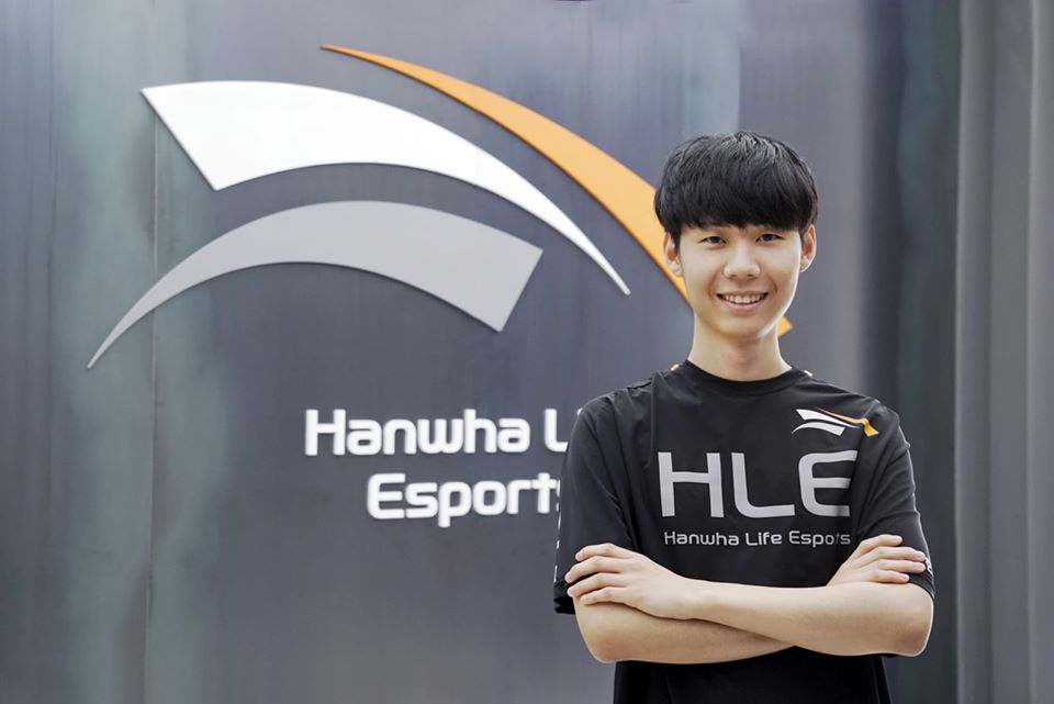 Lehends had previously spent the past two years playing with Griffin before joining Hanwha Life (Image via Hanwha Life)