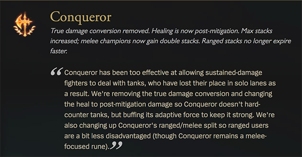 Despite the massive changes on patch 9.23, Conqueror users still rule the day (Image via Riot Games)