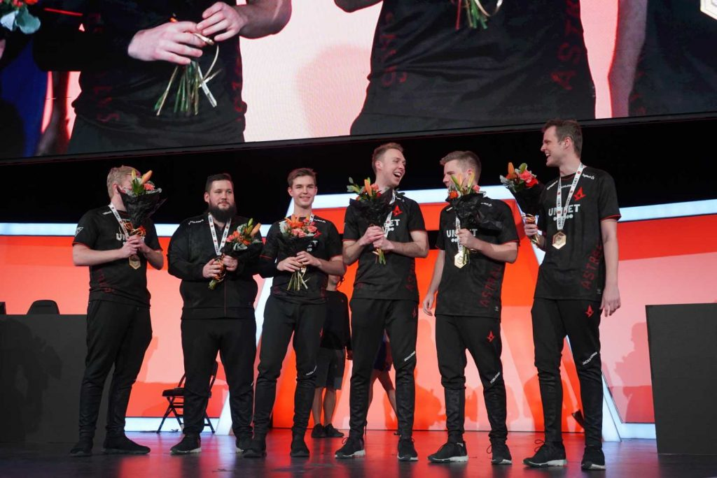 With the ECS Season 8 victory, Astralis has now won four of their last five tournaments (Photo via Astralis)