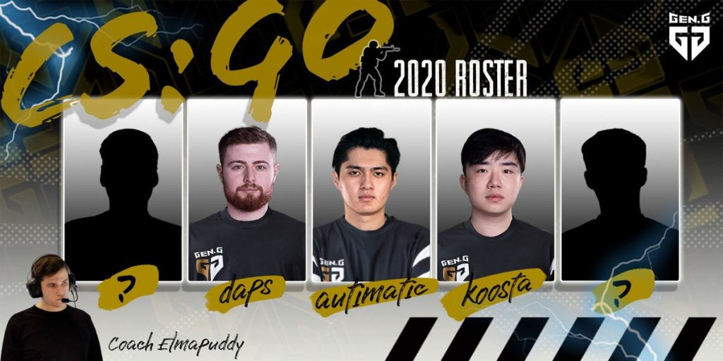 autimatic, koosta and daps have been enlisted as Gen.G's founding players (Image via Gen.G)
