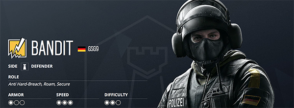 Bandit's speed can make for a strong fragger for any defense roster (Image via Ubisoft)