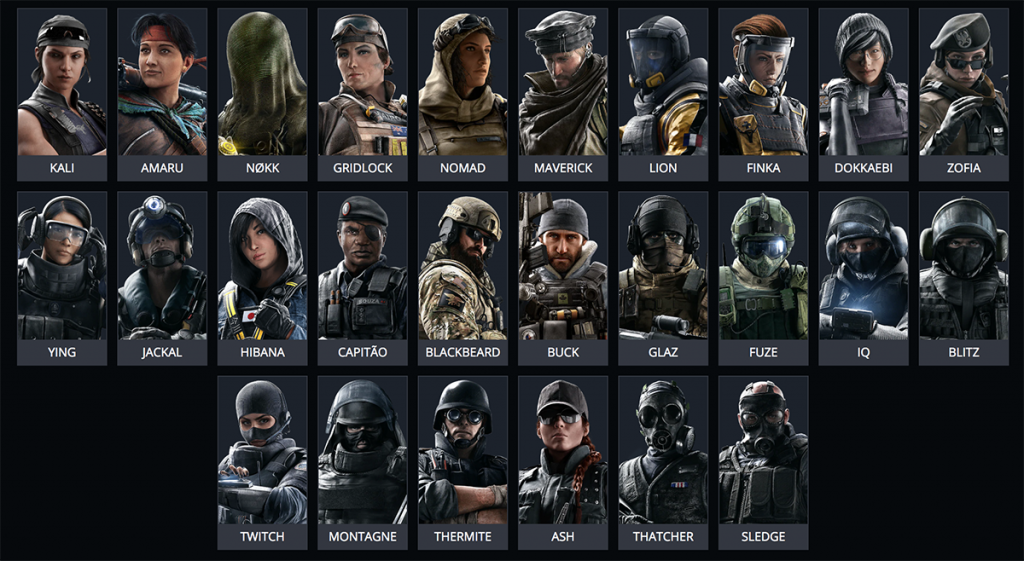 With over 50 operators to chose from, Rainbow Six Siege can seem daunting to new players (Image via Ubisoft)