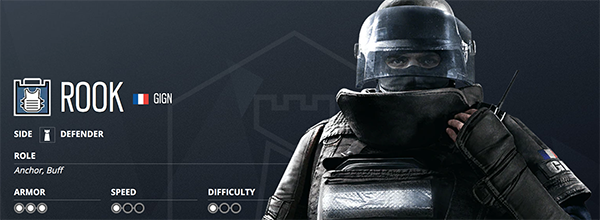 Rook is amazing for holding angles, sitting on-site and protecting the objective (Image via Ubisoft)