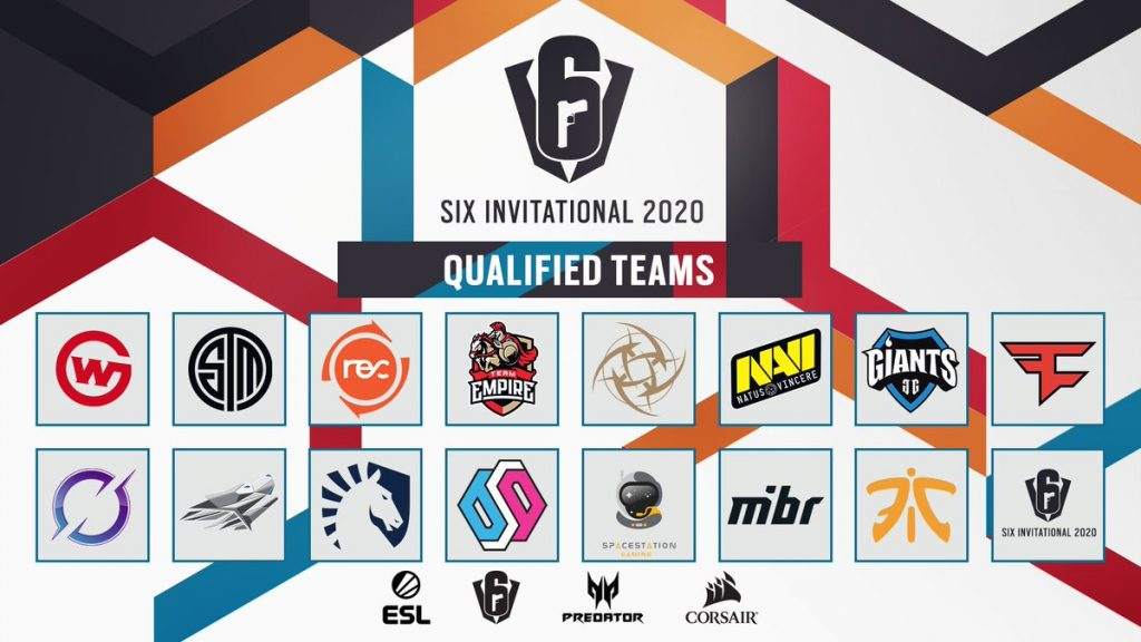 All but one of the teams for the Six Invitational 2020 have been determined (Image via ESL Rainbow Six/Twitter)