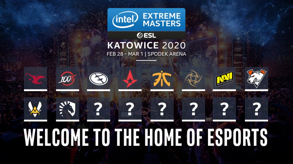 10 of the 16 teams set to compete at IEM Katowice 2020 have been officially announced (Image via ESL)