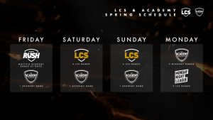Riot Games Announces Scheduling Changes to LCS