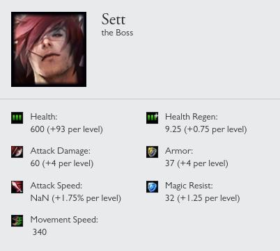 Sett stats