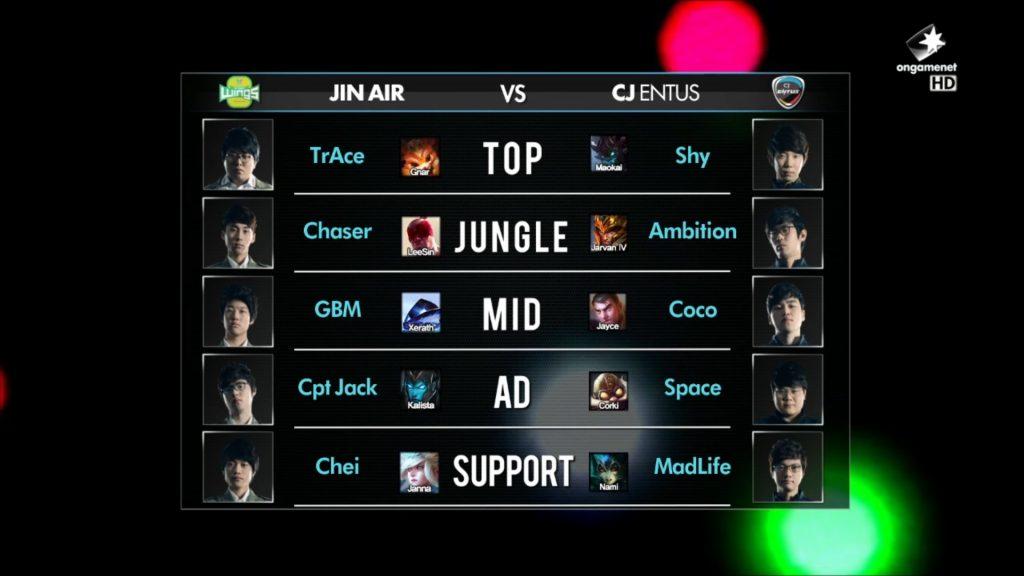 Jin Air vs. CJ ENTUS