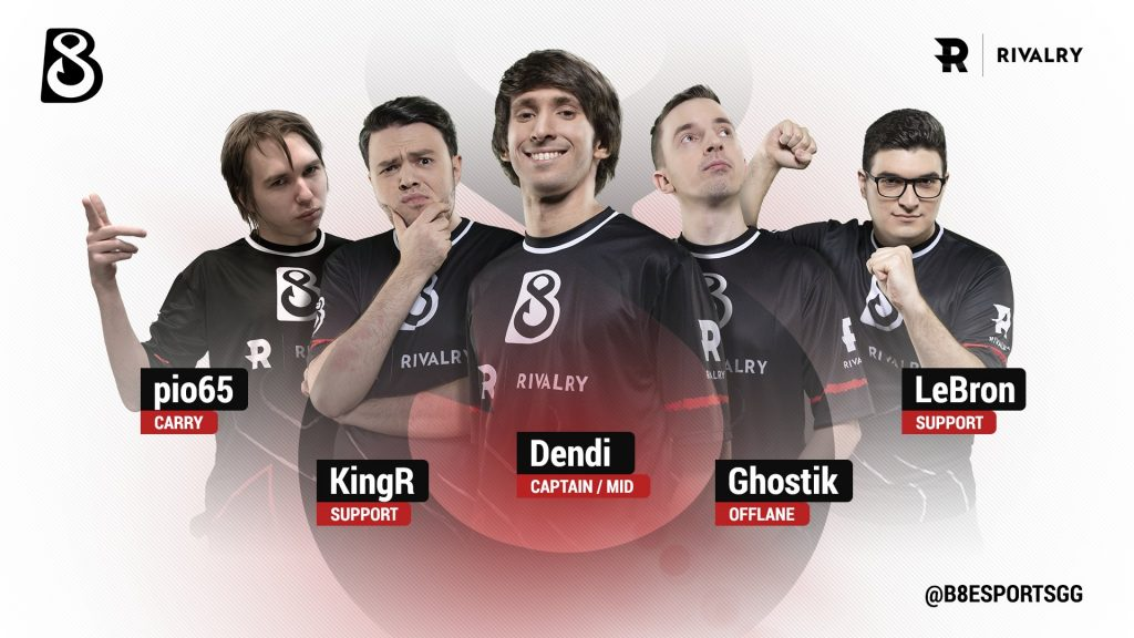 There's a few familiar faces besides Dendi on B8's newly announced roster (Image via B8)