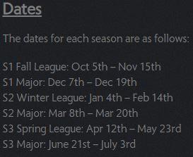 New Dota League Format dates