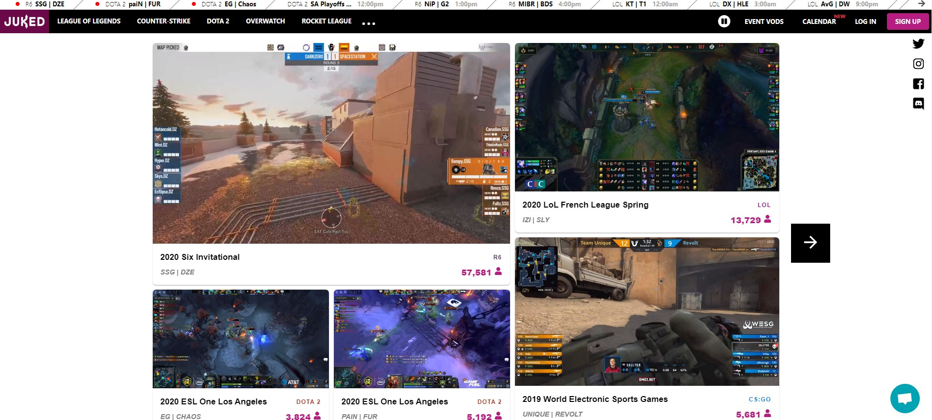 Juked.gg brings esports streams to one location for fans to find them easily.