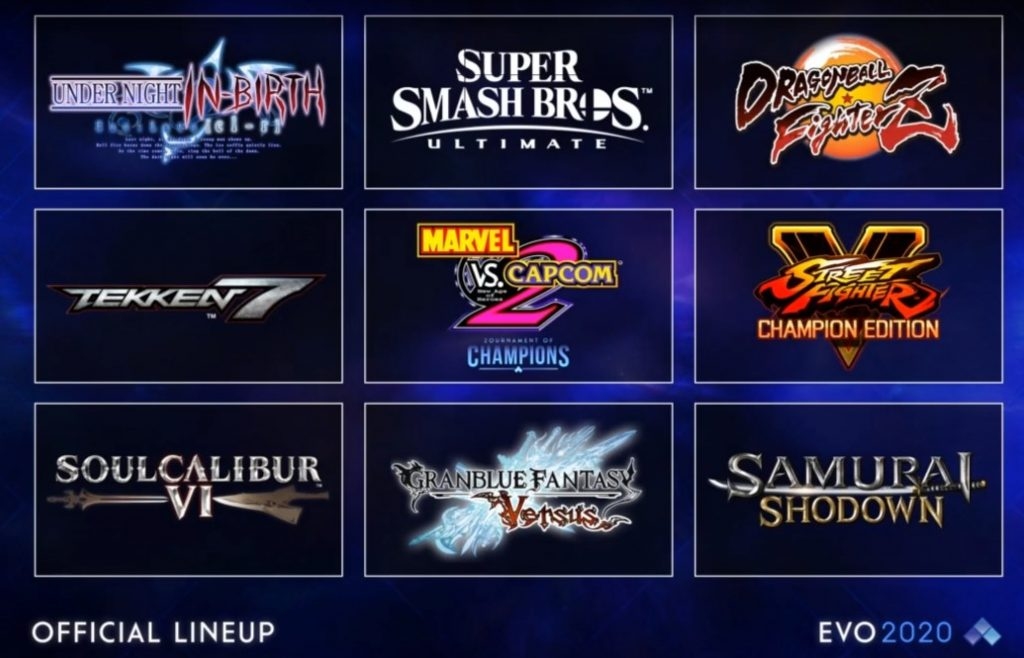 EVO 2020 official lineup