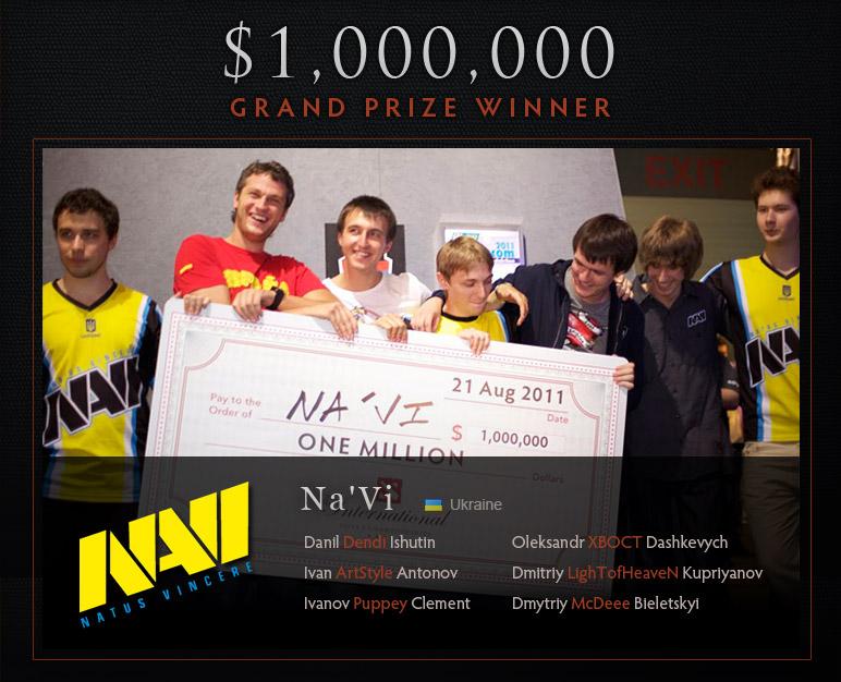 Na'vi wins The International Dendi