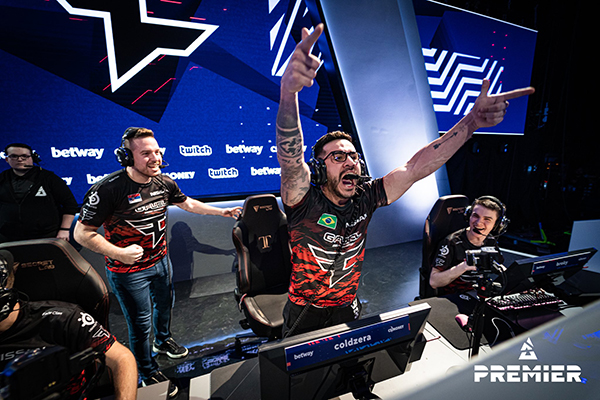 FaZe looks to break through the glass ceiling in Group D (Photo via BLAST Premier)