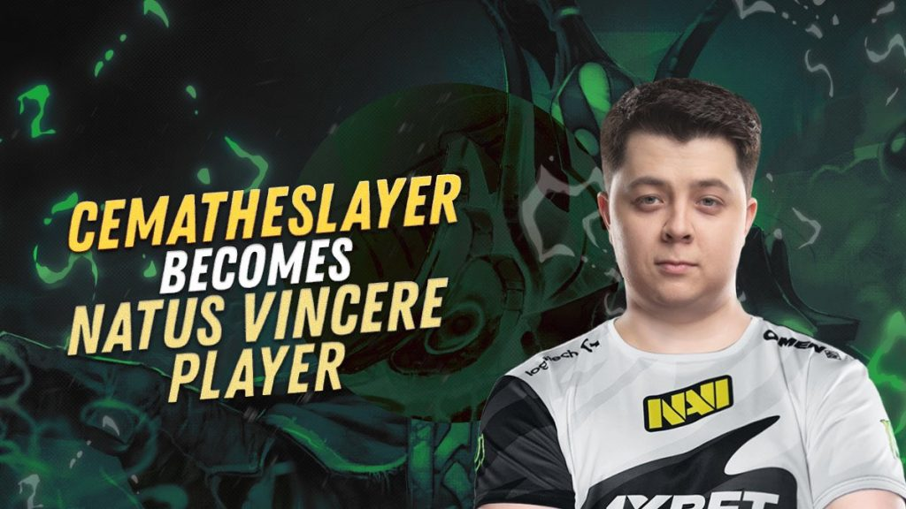 After over a month of stand-in duty, CemaTheSlayer has joined Na'Vi's roster full-time (Image via Na'Vi)