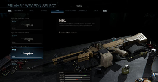 warzone machine gun