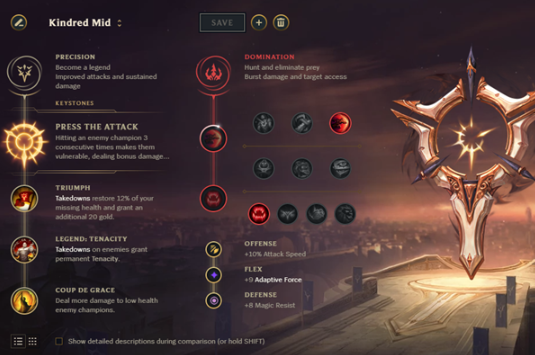 Kindred Mid runes