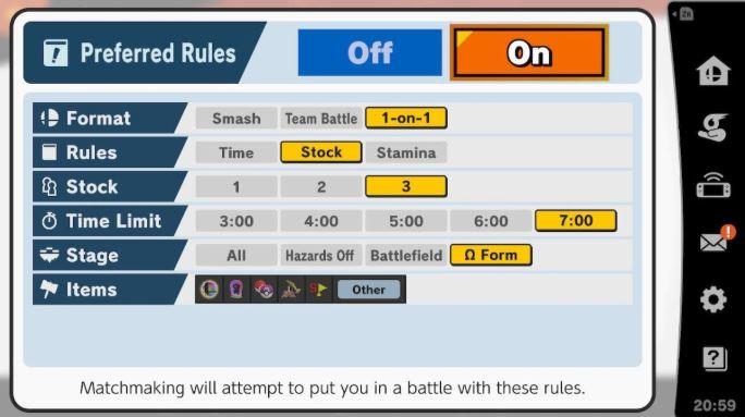 Elite Smash preferred rules