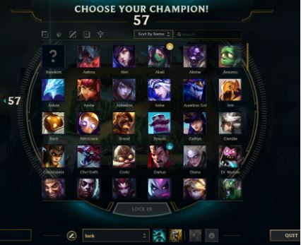 LoL Champion Select