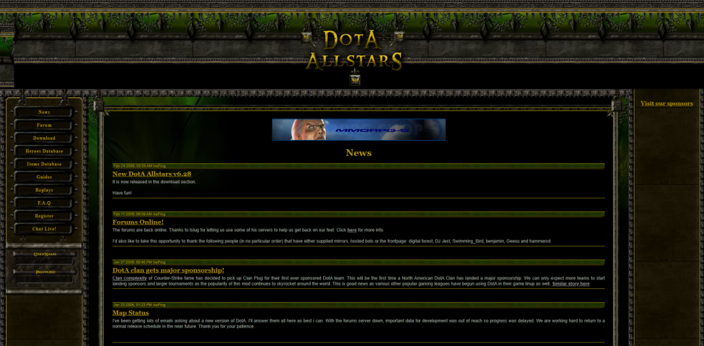 The original Dota-Allstars.com