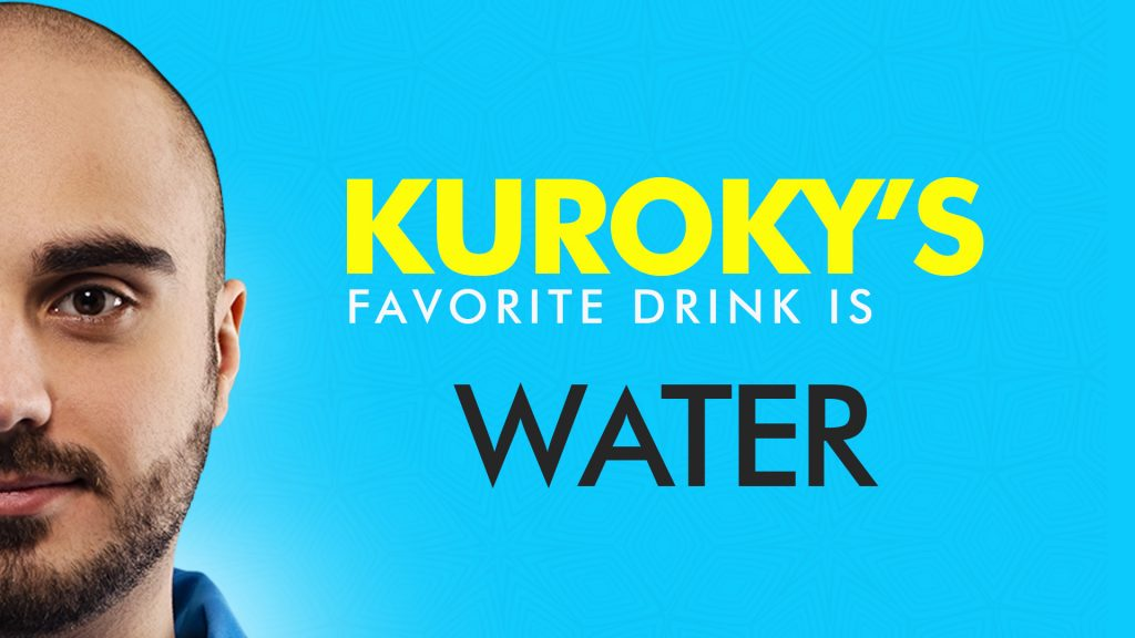 Hours before Team Nigma's upset loss to Gambit Esports at ESL One LA, we learned what Kuroky's favorite drink was (Image via Team Nigma)