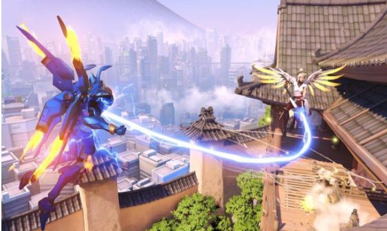 Mercy healing Pharah Overwatch