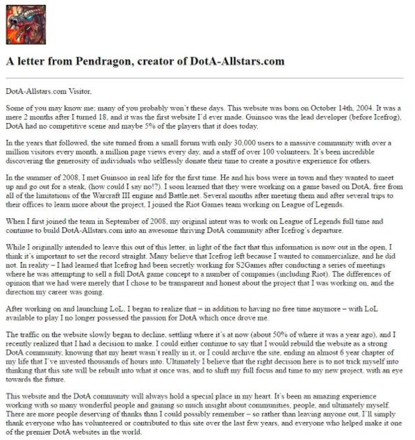 Pendragon Letter