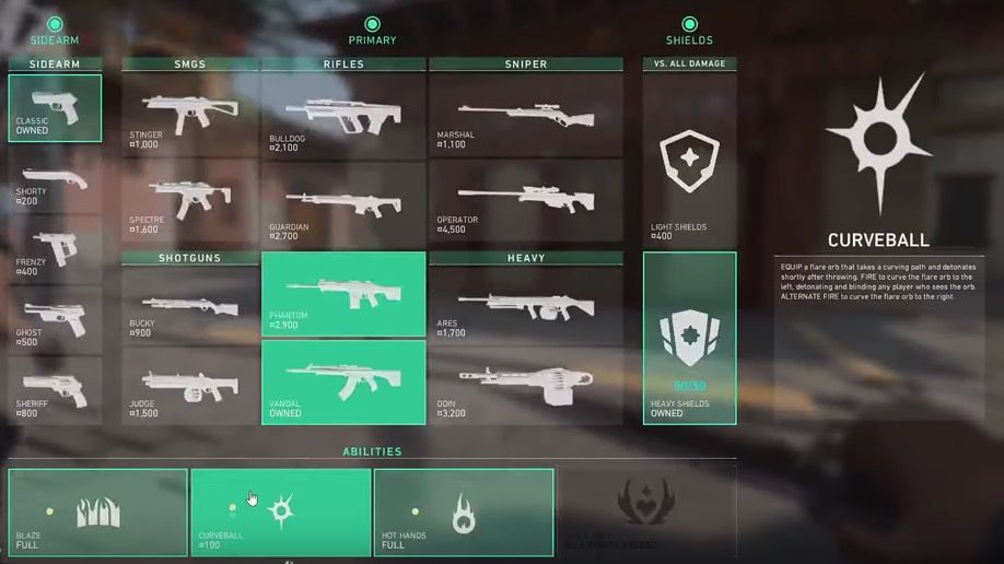Valorant weapons