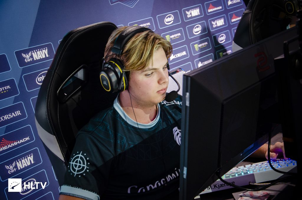 "According to Kjaerbye himself, he's been experiencing ""abdominal pains, breathing problems, and chest cramps"" in the last several months which has inhibited his performance (Photo via HLTV)"